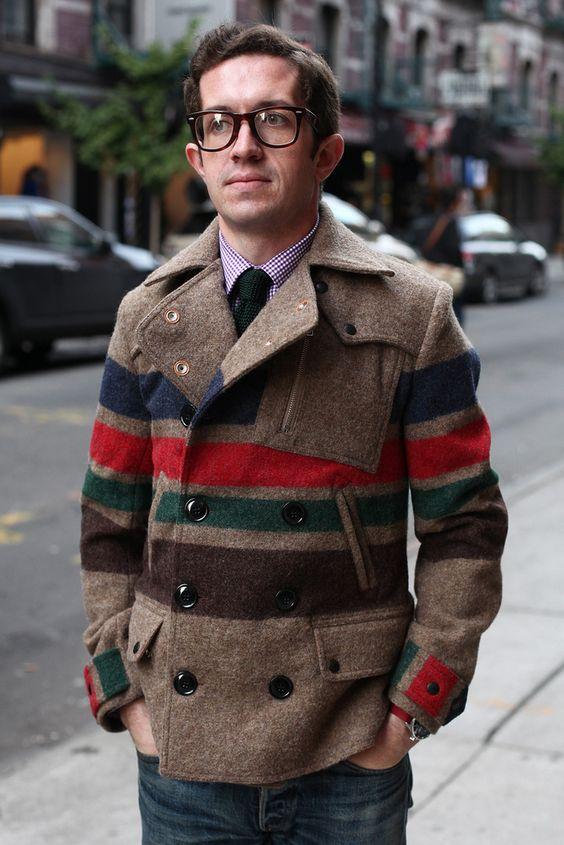 Striped Riders Coat Brown - Monitaly