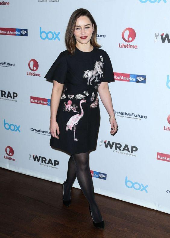 Emilia Clarke Wearing Black Stockings Emilia Clarke