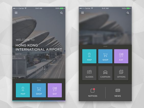 HK Airport App [Concept] by William Hu