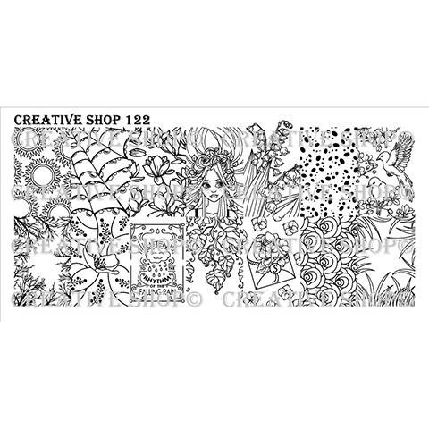 COMING SOON Creative Shop- Stamping Plate- 122