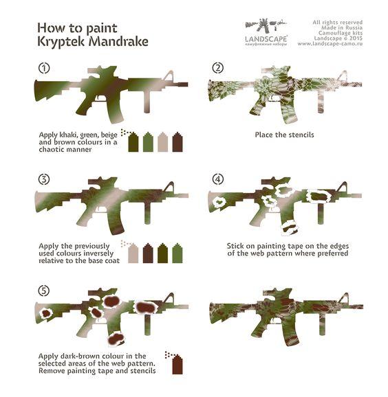 how to paint kryptek mandrake ar 15 pinterest