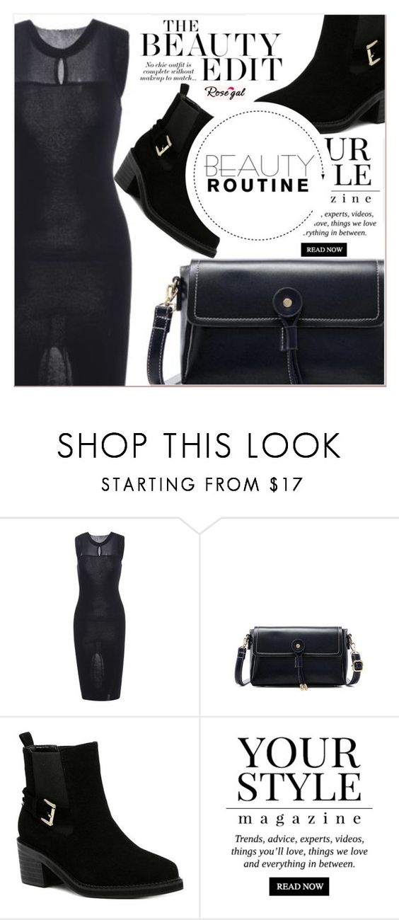"""# I/15 Rosegal"" by lucky-1990 ❤ liked on Polyvore featuring Pussycat"