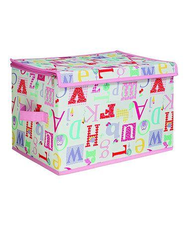 Owlphabet Medium Zippered Storage Box by Laura Ashley Home #zulily #zulilyfinds