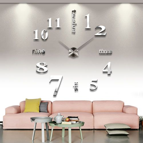 luxury large diy 3d wall clock home decor