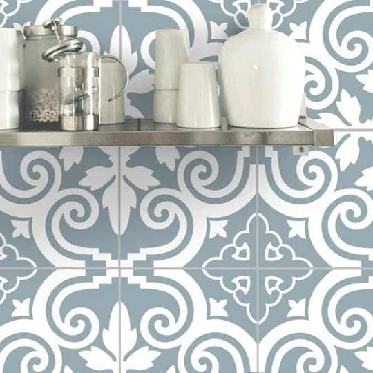 Dress Up Your Rental With Removable Wallpaper That Looks Like Tile Wall Tiles Kitchen Wallpaper Removable Wallpaper