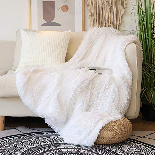 Decorative Extra Soft Faux Fur Throw Blanket 50 X 60 Solid Reversible Fuzzy Lightweight Long Hair Shaggy Blanket Fluffy Cozy Plush Fleece Comfy Microfiber Fur