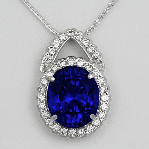 Tanzanite And Diamond Pendant An Outstanding 10 Carat Kashmir Sapphire Blue Tanzanite Glittering With Life As Tanzanite Jewelry Pendant Tanzanite Pendant
