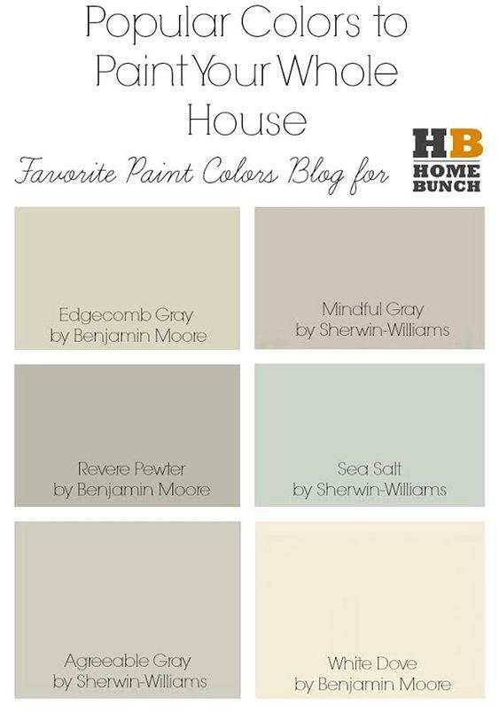 Whole house paint colors popular paint colors to paint for Good paint color for whole house