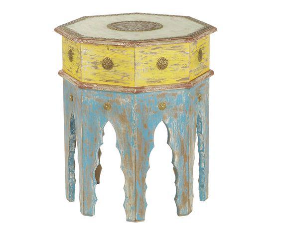 Стол восьмигранник малый - дерево манго, 35 x 35 x 45 см | Westwing Интерьер & Дизайн: