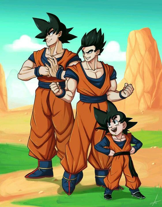 Imagenes Gochi Goku Gohan Y Goten Dragon Ball Super Manga Anime Dragon Ball Super Dragon Ball Super Goku