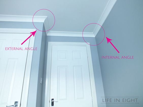 Crowns moldings and for dummies on pinterest for Coving corner template