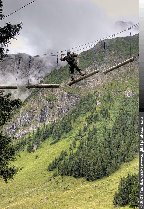 Lucerne Pilatus rope park high ropes