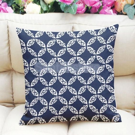 45X45Cm Linen Cotton Pillow Case Sofa Cushion Cover Universal Home