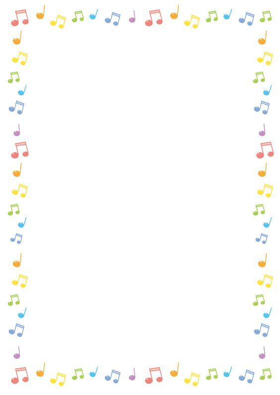 フリーイラスト, ベクトルデータ, EPS, 背景, フレーム, フレーム(囲み), 音楽, 音符, カラフル,