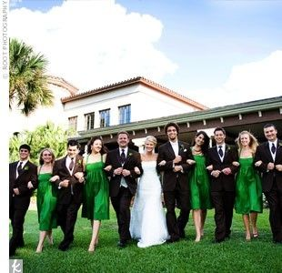 kelly green bridesmaid dresses by carissa - A&-39-s Baseball themed ...