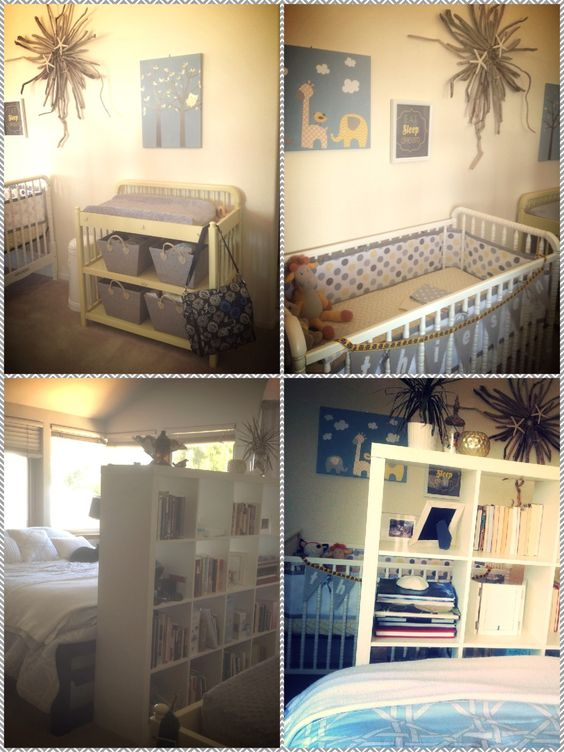 Yellow And Gray Master Bedroom Nursery Divided Up Our Room And Made Baby A Special Space