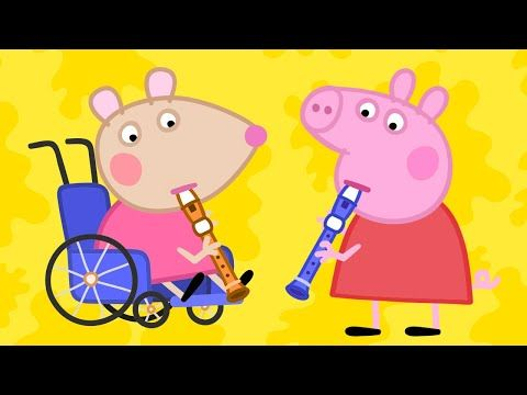 Peppa Pig English Episodes Meet Mandy Mouse Playing Music