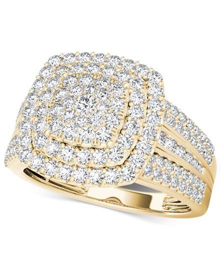 Diamond Cluster Ring (1 ct. t.w.) in 14k Gold