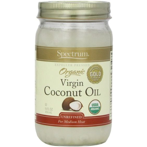 Spectrum Organic Coconut Oil, Unrefined, 14 oz (£17) ❤ liked on Polyvore featuring food, beauty and hair products