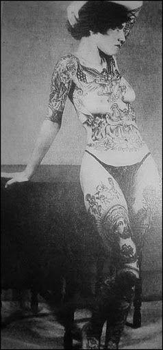 Jean Carroll, bearded lady turned tattooed