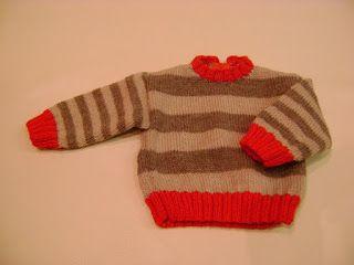 Mis Cositas: Jersey de bebé de rayas marrones