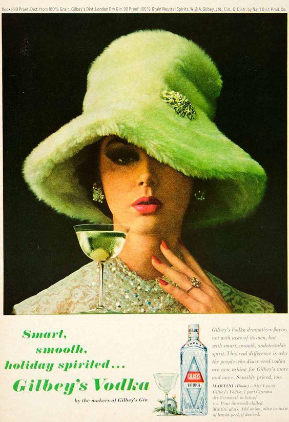 1963 Ad Vintage Gilbey's Vodka Martini Cocktail Recipe 60s ...
