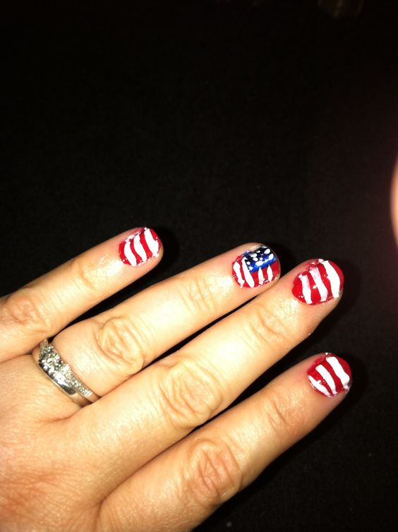 Fourth of July/USA nails