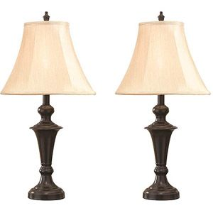 Better Homes and Gardens Traditional Lamp Espresso Finish 2pk