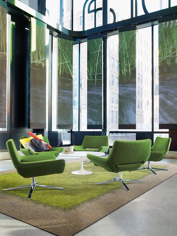 Interface - Urban Retreat carpet tile. Creating open office or meeting spaces through biomimicry and biophilic design:
