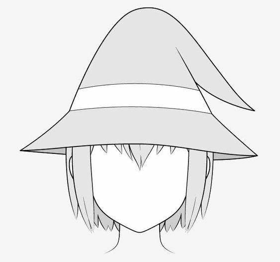 Vẽ nón phù thủy anime