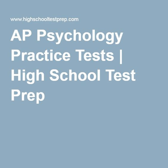 Ap psychology practice test essay