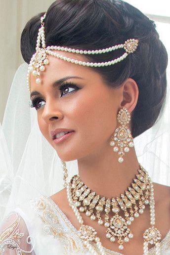 chignon mariage indien