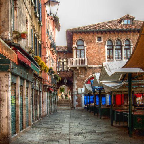 Market square in Venice