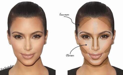Contorno rosto oval