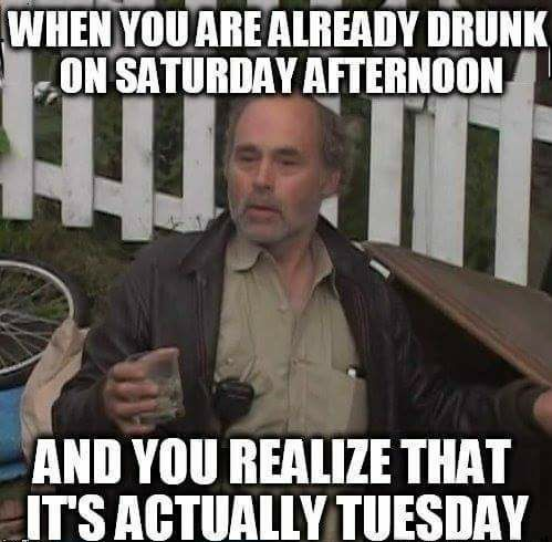 Right Job But Wrong Day Funny Memes Drinking Humor Super Funny Memes