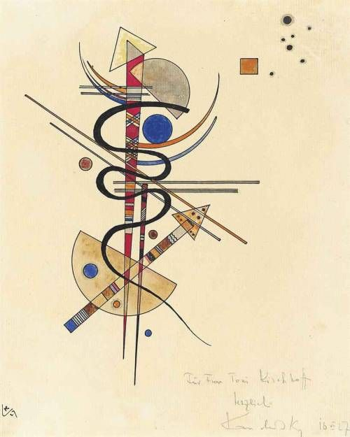 Wassily Kandinsky Russe 1866 1944 1927 Aquarelle Et Plume Et