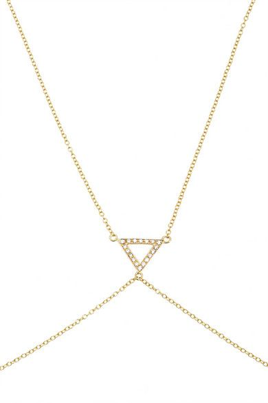 Shop now: Halleh 18-karat Gold #bodychain $3,190
