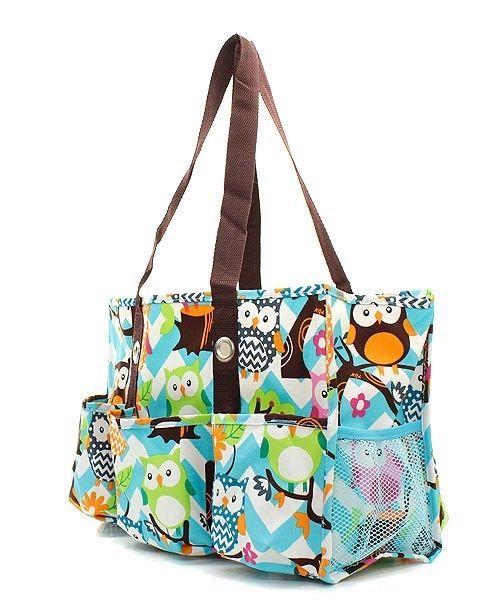 New hot!!! owl chevron utility bag shopping bag tote ...
