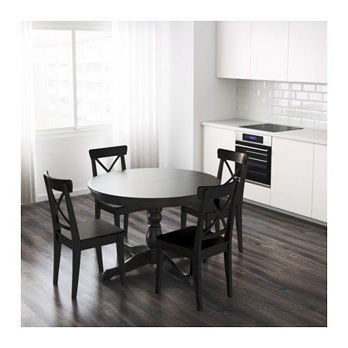 Ikea Ingatorp Rund.Ikea Ingatorp Black Extendable Table Don T Trip Over The