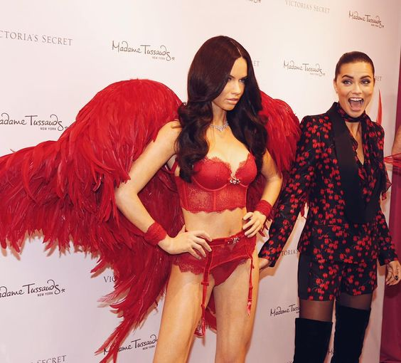 """Imitation is the sincerest form of flattery. ☺️Congrats to @adrianalima, who unveiled her wax figure at @nycwax today! ❤️ #MadameTussauds #GetItGirl"""