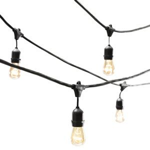 Outdoor String Lights Restoration Hardware : retailer: Restoration Hardware price:USD 179.00 Just because the sun sets doesnt mean the party has ...