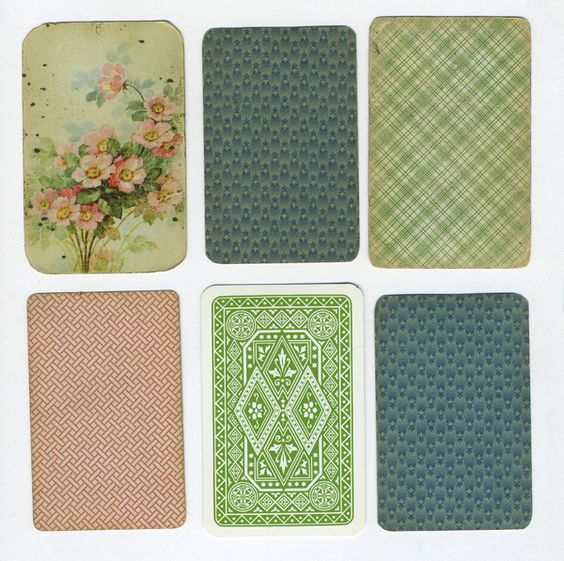 vintage playing cards via lisa congdon