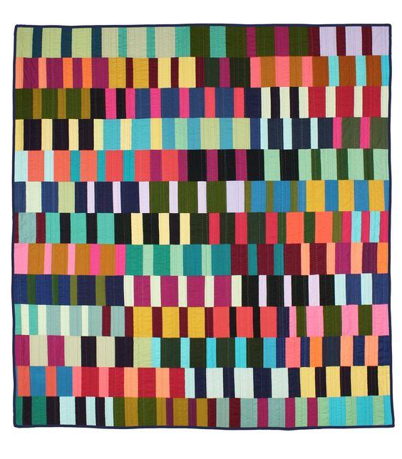 Bars Quilt 2016. Image courtesy of Tara Faughnan. The Creativity Project Week #33 Leland Ave Studios/Kim Soper