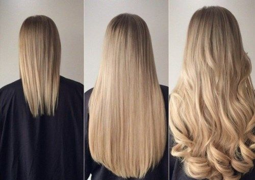 Hair Extensions Before And After 100 Photos Extensiones De