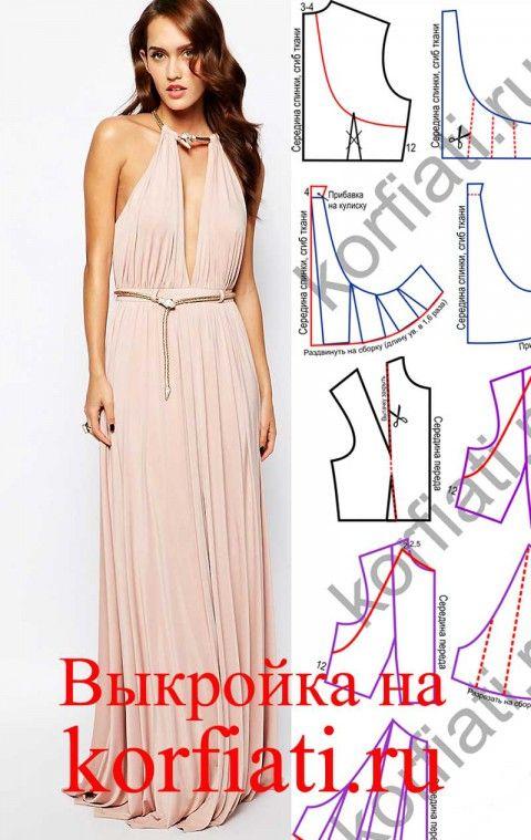 Летнее длинное платье без выкройки