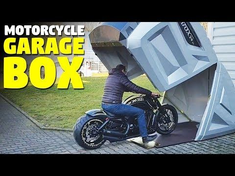 This Little Garage Is A World S Best Motorcycle Storage Shed This Motorcycle Storage Box Is Called T Motorcycle Storage Motorcycle Storage Shed Motorbike Shed