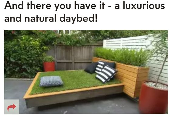 Don't have a back yard, try this,