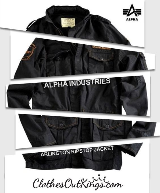Alpha Industries Men's Arlington Ripstop Jacket  - significant discount on this men's jacket from Alpha Industries! http://www.clothesoutkings.com/alpha-industries-mens-arlington-ripstop-jacket-color-black/