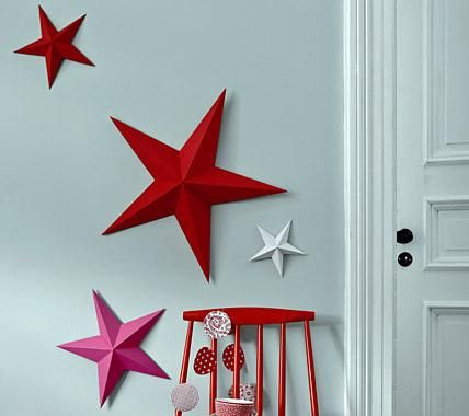 deko mit sternen ideen zu weihnachten und selber machen selbstgefaltete sterne. Black Bedroom Furniture Sets. Home Design Ideas