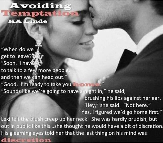 Avoiding Temptation Teaser by K.A Linde
